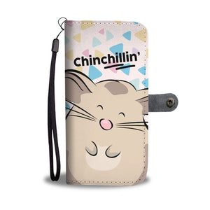 Cute Chinchilla Light Pink Phone Wallet Case