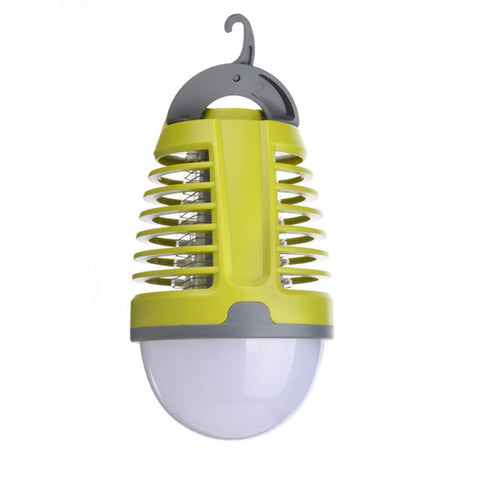 Portable Waterproof Mosquito Killer LED Lantern with 2000mAh Rechargeable Battery, Retractable Hook