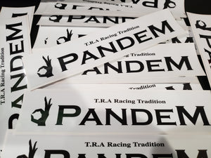 "Pandem  - パンデム Stickers Black and White 2.4"" x 14"""