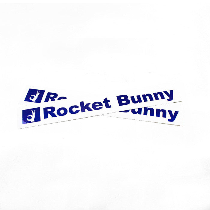 "Rocket Bunny Stickers 10"" White/Blue"