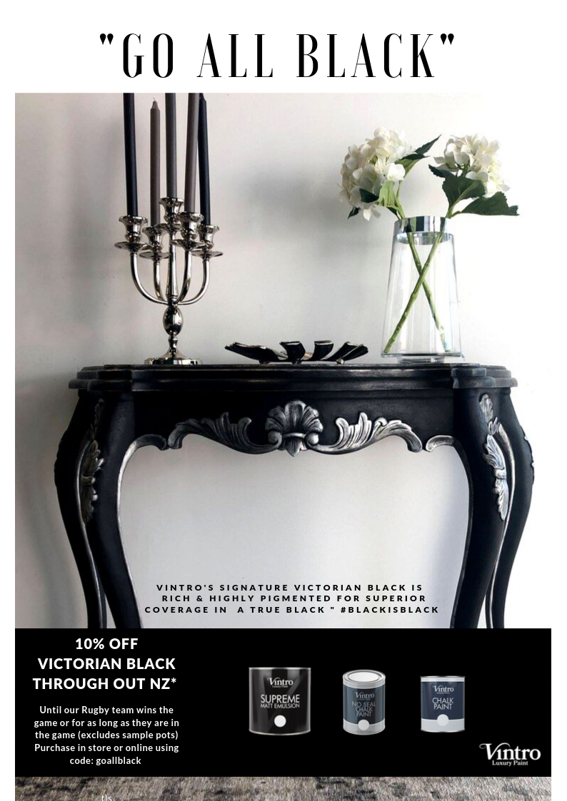 GO ALL BLACK! 10% off Victorian Black for a Limited Time SPECIAL FINISHED
