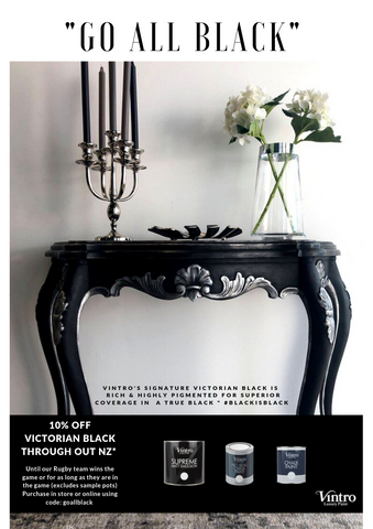 GO ALL BLACK! 10% off Victorian Black for a Limited Time