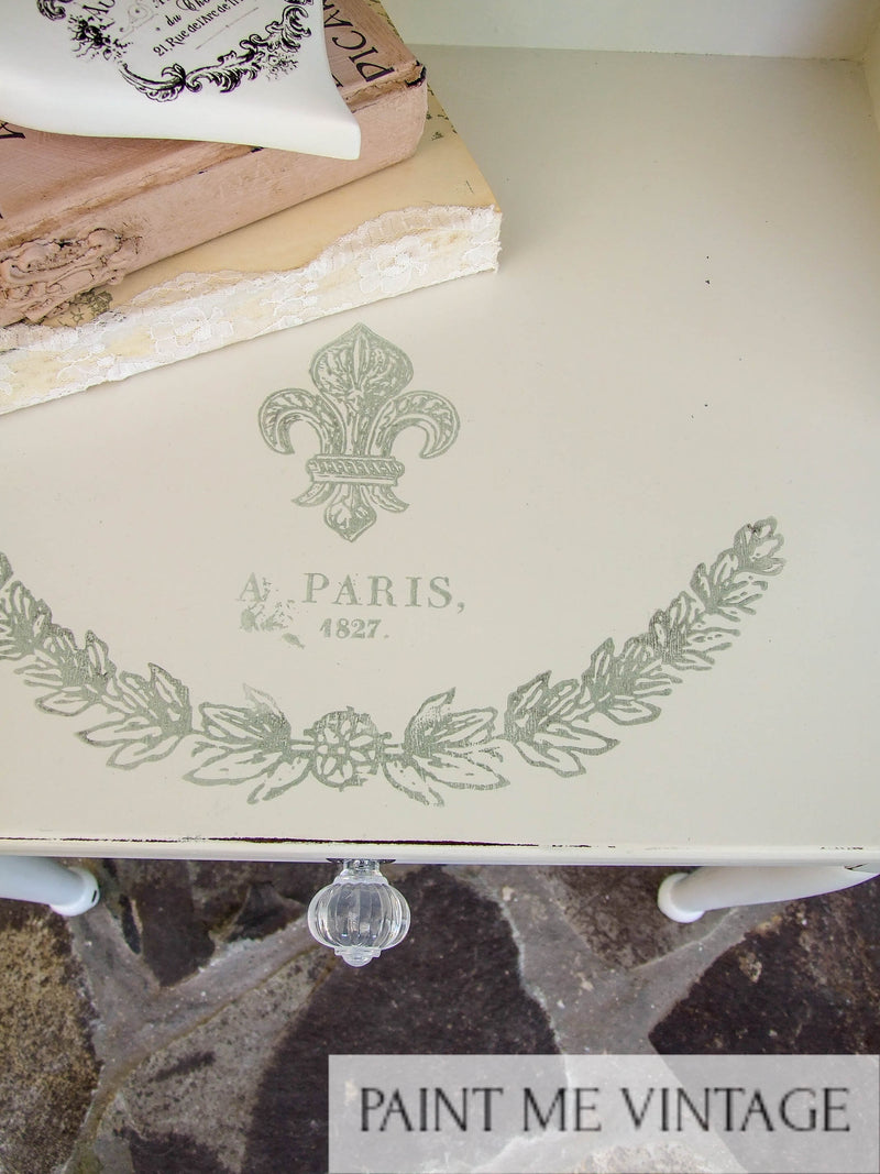 Iron Orchid Decor Stamping on Furniture