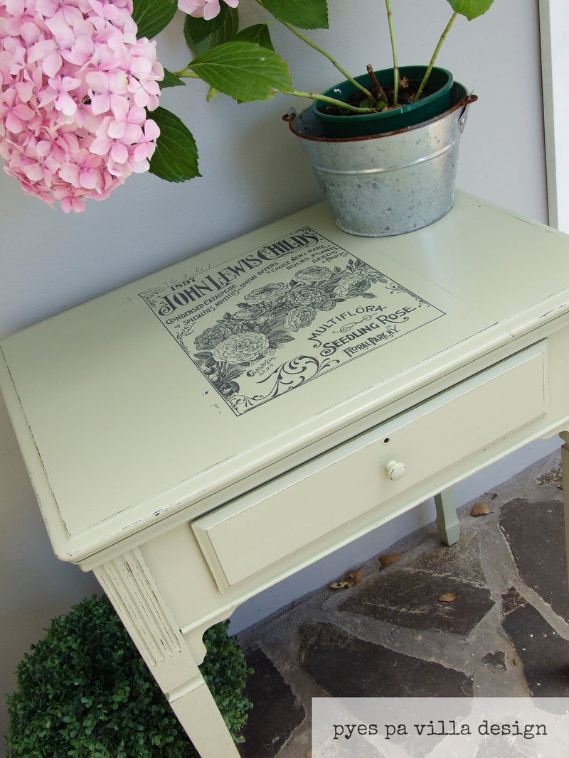 French Provincial Hall table from a re-purposed sewing table