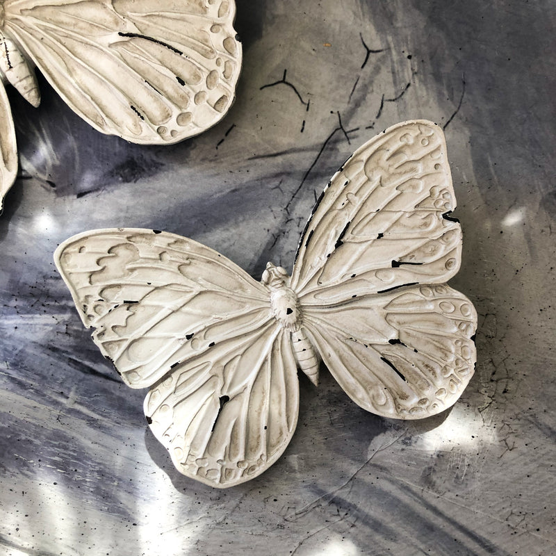 Butterfly Small Wall Decor Antique White