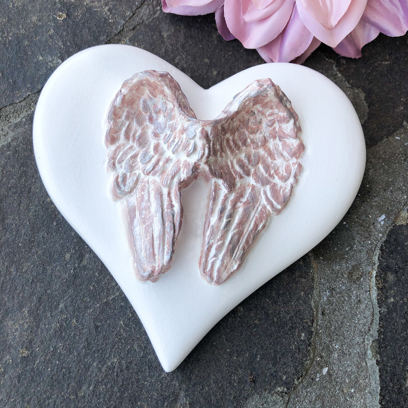 Pink Angel Wings Heart styled