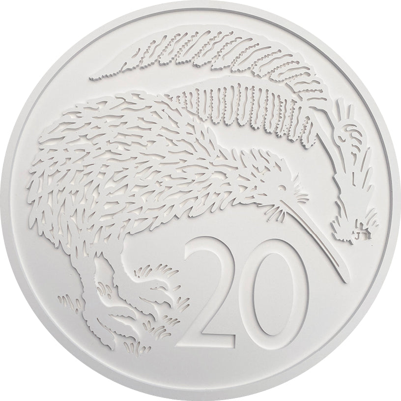 NZ 20 cent Coin Wall Art