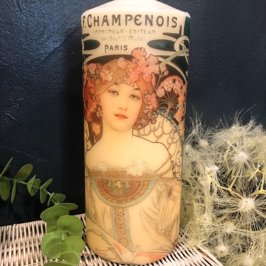 Art Deco Paris Candle Tall-Large