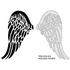 Angel Wing Stencil - small sized nz