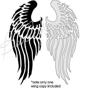 Angel Wing #2 Stencil - Small size nz