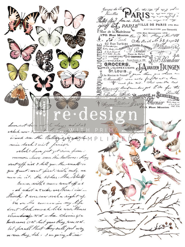 ReDesign Parisian Butterflies furniture transfer