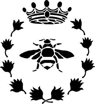 Bee Wreath & Crown Stencil nz