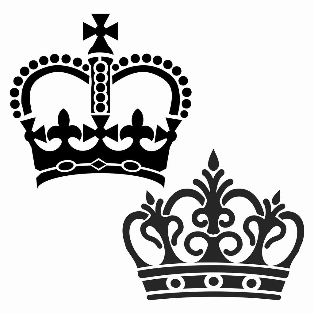 Crowns set of 2 Stencil