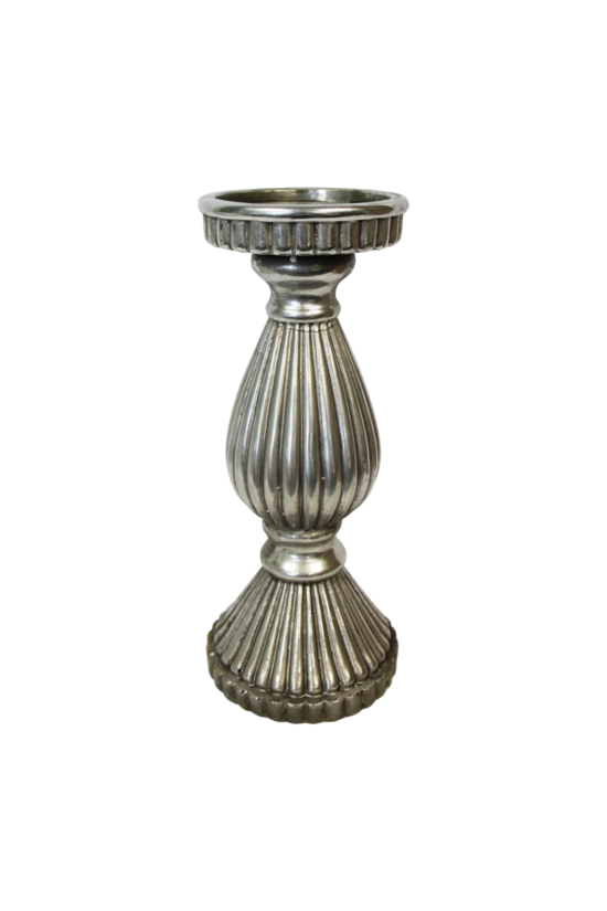 Pewter Large Candlestick