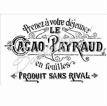 Cacao Payraud Stencil - Large | Paint Me Vintage | Tauranga, New Zealand | chalk paint | chalkpaint | furniture painting | vintage paint | stencils | IOD | Iron Orchid Design | furniture transfers | workshops | where to buy stencils | stencils for sale nz | plastic stencils nz | craft stencils nz | Cacao Payraud Stencil - Large