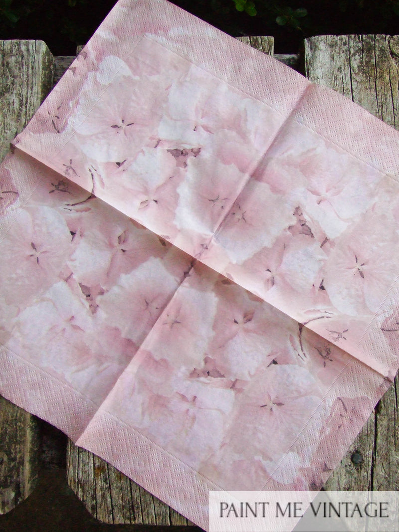 Napkin for Decoupage Pink Hydrangeas NZ