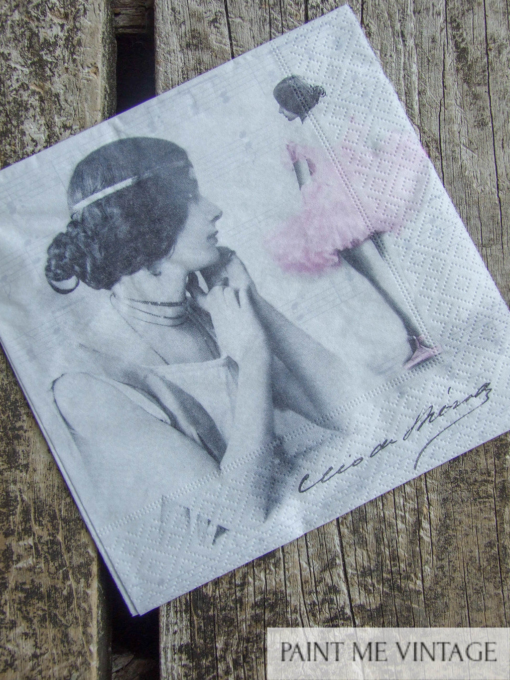 Napkin for Decoupage Ballerina | Paint Me Vintage |  Tauranga, New Zealand | chalk paint | furniture painting | vintage paint | stencils | IOD | Iron Orchid Design | furniture transfers | workshops