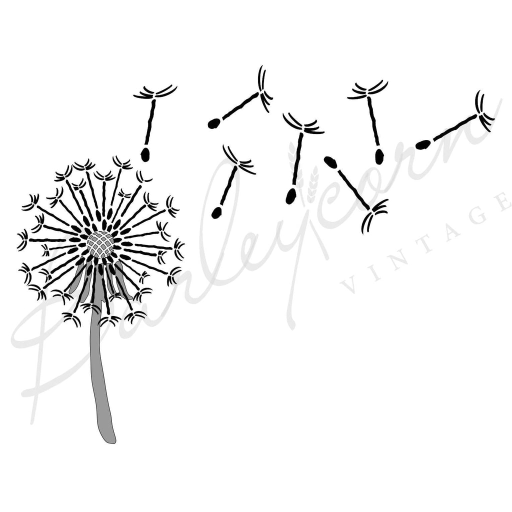 Dandelion Clock Stencil | Paint Me Vintage | Tauranga, New Zealand | chalk paint | chalkpaint | furniture painting | vintage paint | stencils | IOD | Iron Orchid Design | furniture transfers | workshops | where to buy stencils | stencils for sale nz | plastic stencils nz | craft stencils nz | Dandelion Clock Stencil