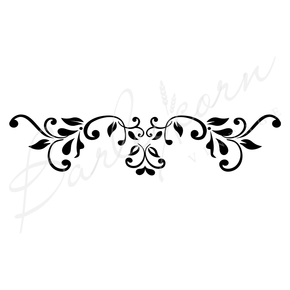 Baroque Flourish Stencil nz