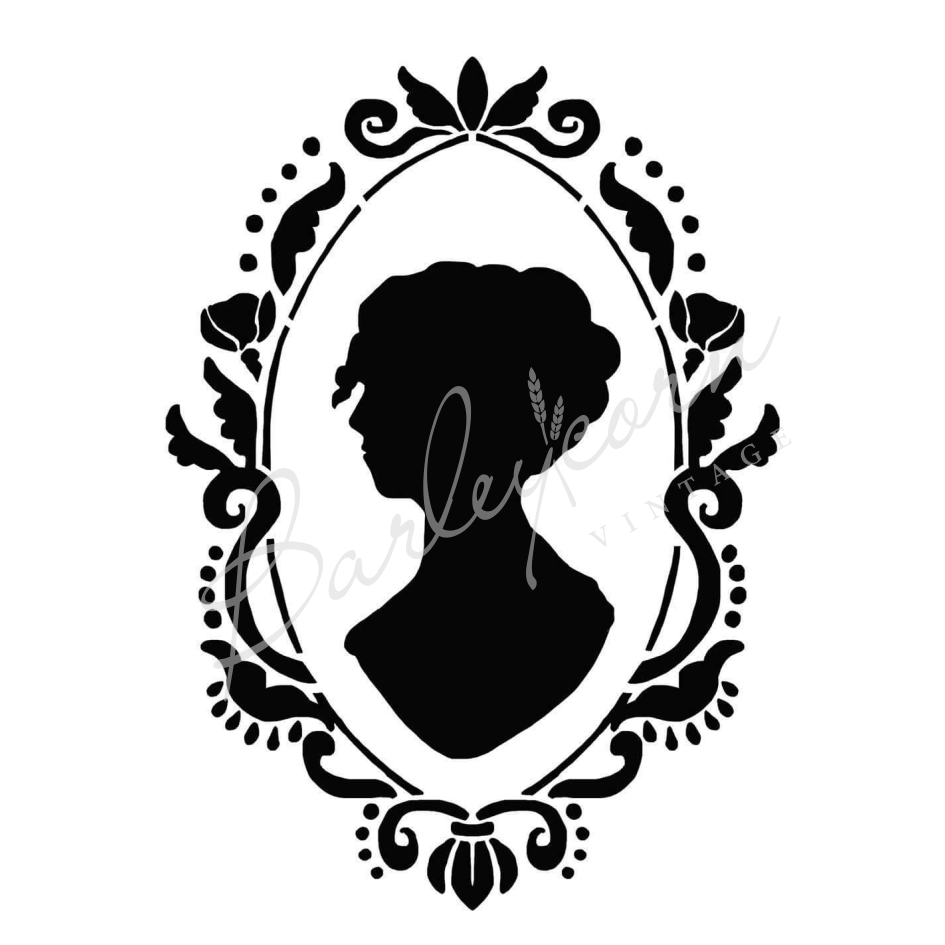 Cameo Lady Stencil nz