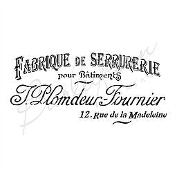 Fabrique French Advertising Stencil Large | Paint Me Vintage | Tauranga, New Zealand | chalk paint | chalkpaint | furniture painting | vintage paint | stencils | IOD | Iron Orchid Design | furniture transfers | workshops | where to buy stencils | stencils for sale nz | plastic stencils nz | craft stencils nz | Fabrique French Advertising Stencil Large