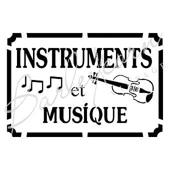 Music Instruments Stencil | Paint Me Vintage | Tauranga, New Zealand | chalk paint | chalkpaint | furniture painting | vintage paint | stencils | IOD | Iron Orchid Design | furniture transfers | workshops | where to buy stencils | stencils for sale nz | plastic stencils nz | craft stencils nz | Music Instruments Stencil