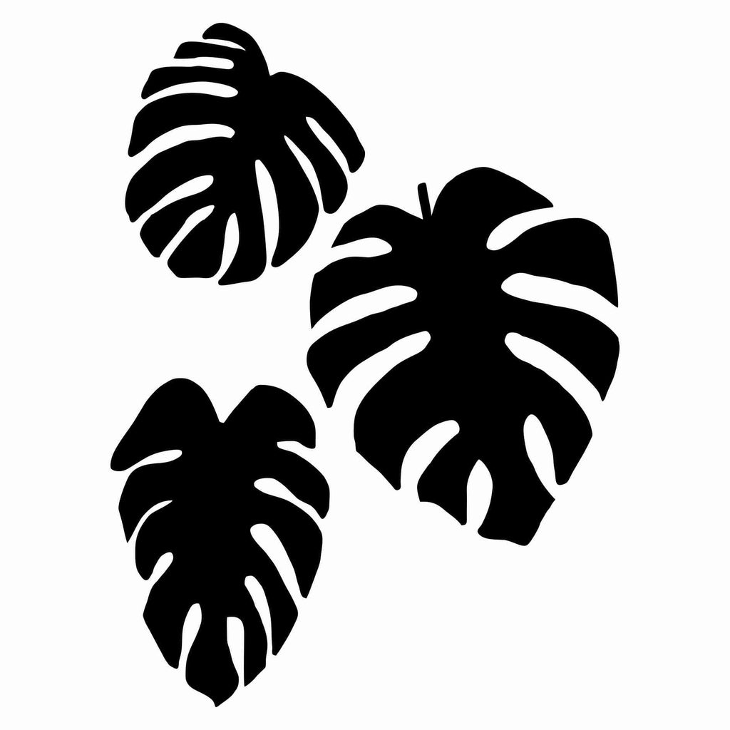 Monstera Leaves Stencil Medium