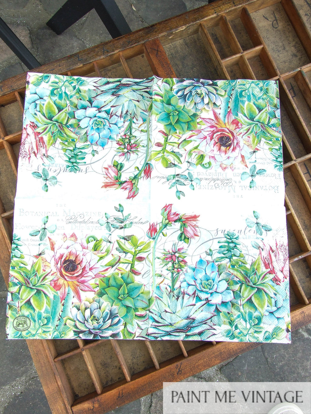 Napkin for Decoupage Cactus NZ