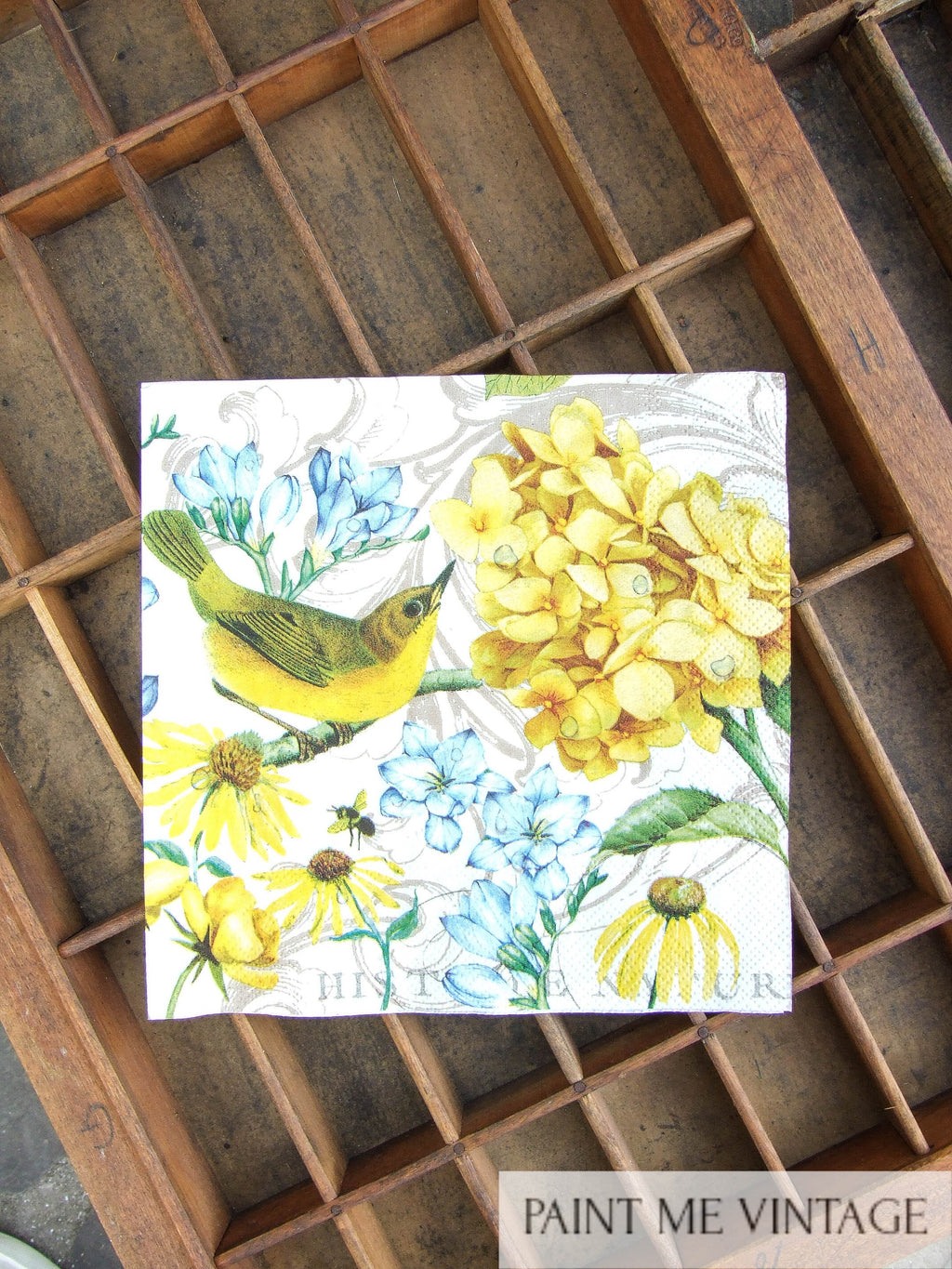 Napkin for Decoupage Yellow Gardens