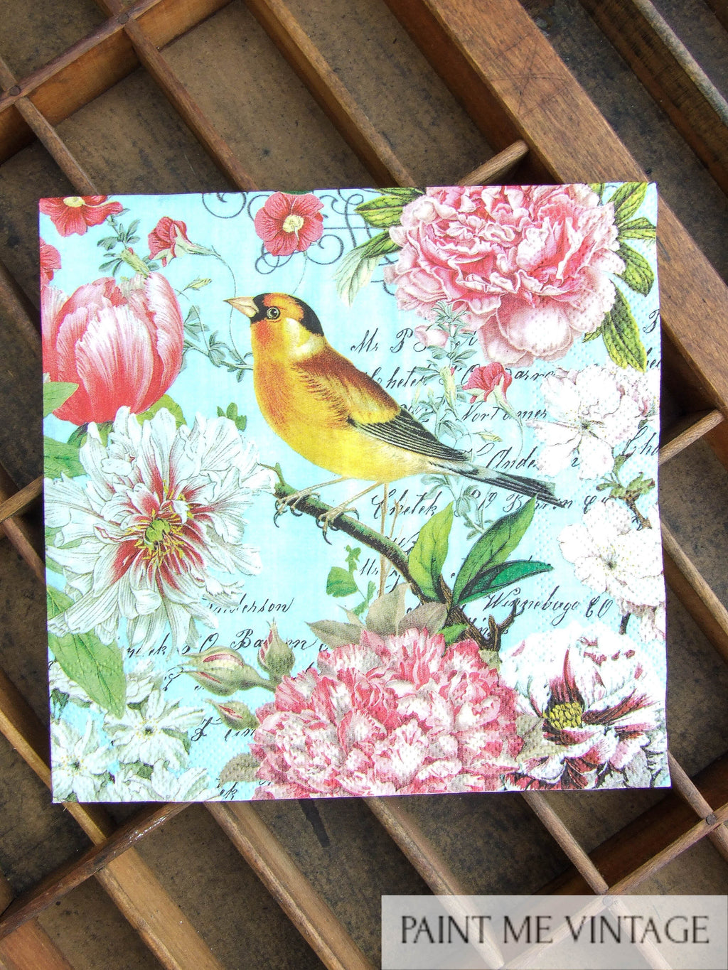 Napkin for Decoupage Bird & Gorgeous Gardens NZ