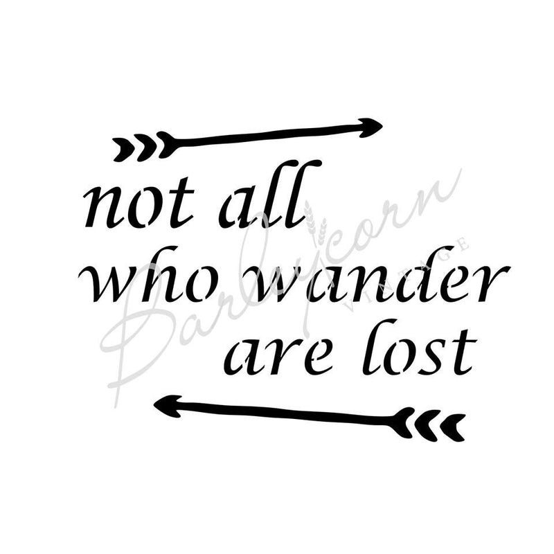 Not all who wander Stencil | Paint Me Vintage | Tauranga, New Zealand | chalk paint | chalkpaint | furniture painting | vintage paint | stencils | IOD | Iron Orchid Design | furniture transfers | workshops | where to buy stencils | stencils for sale nz | plastic stencils nz | craft stencils nz | Not all who wander Stencil