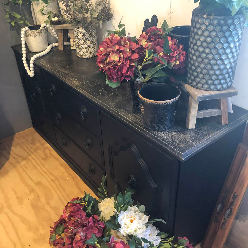 Wax distressed Black Sideboard NZ