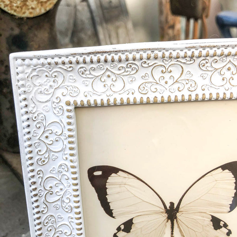 Fine Embossed White Picture Frame