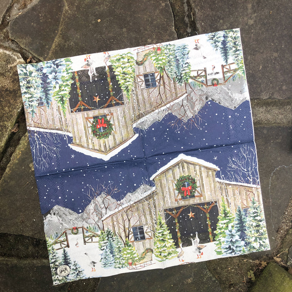 Merry Christmas Napkin for Decoupage