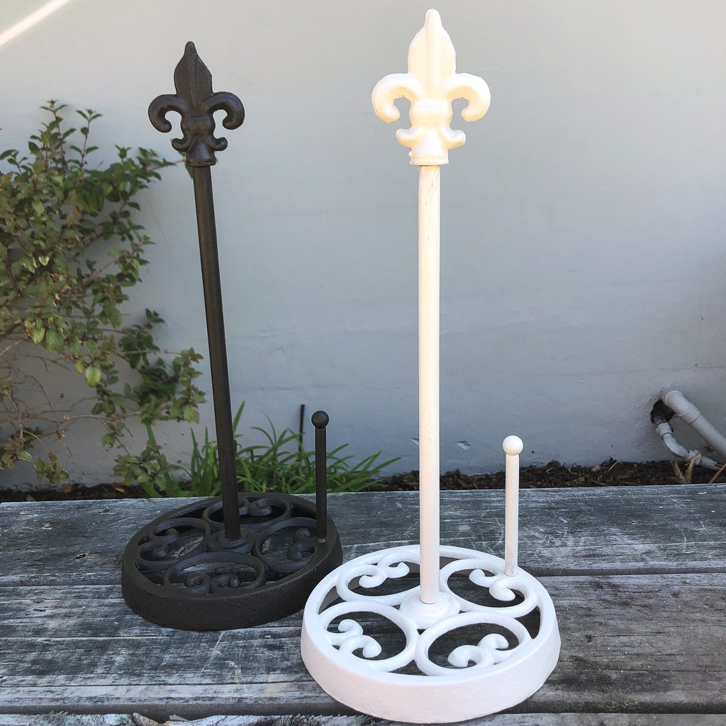 Antique White Paper Towel holder