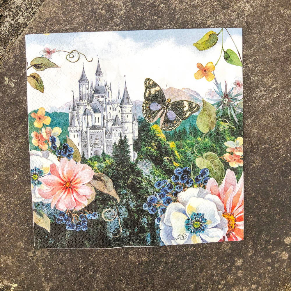 Napkin for Decoupage Castle NZ