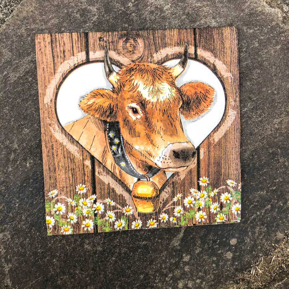 Napkin for Decoupage Cow