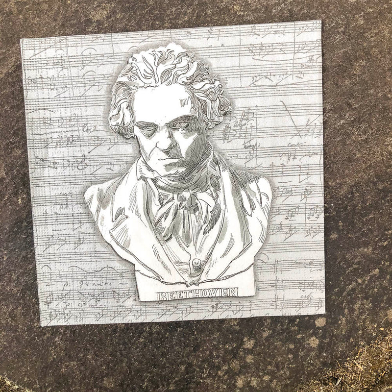 Napkin for Decoupage Beethoven