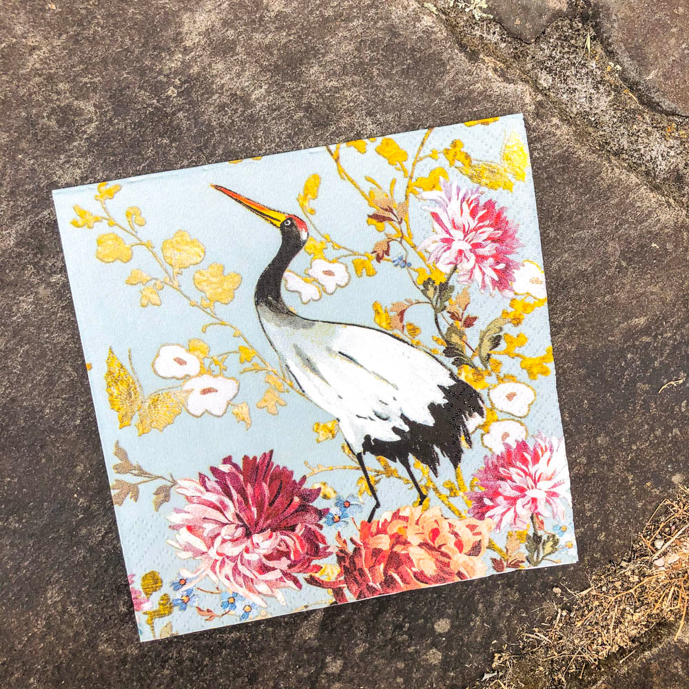 Napkin for Decoupage Duck Egg Stork NZ
