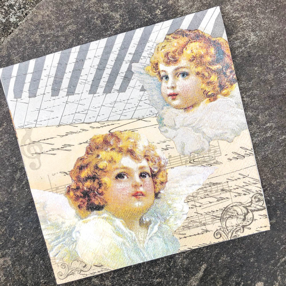 Napkin for Decoupage Angels & Music
