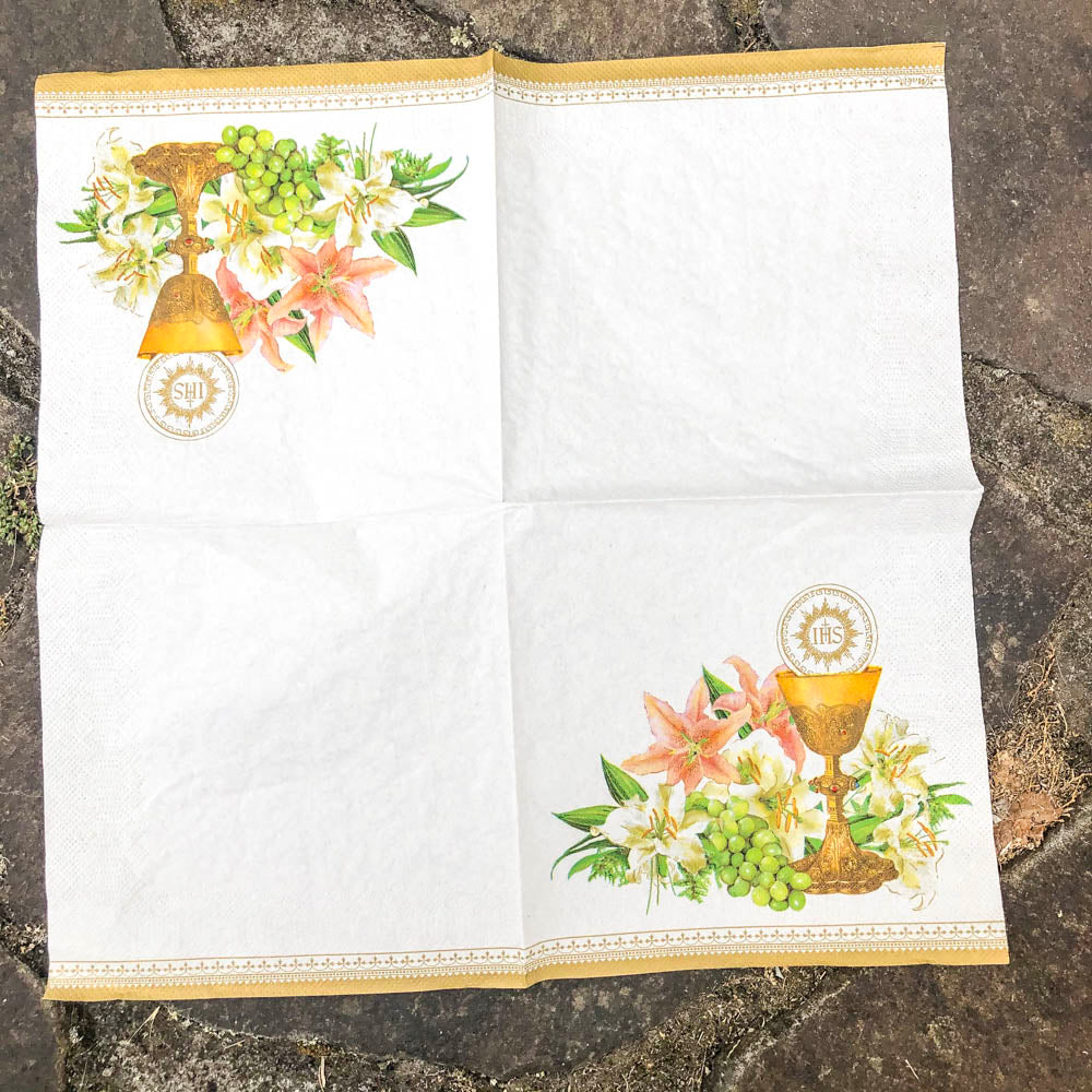 Napkin for Decoupage Communion NZ