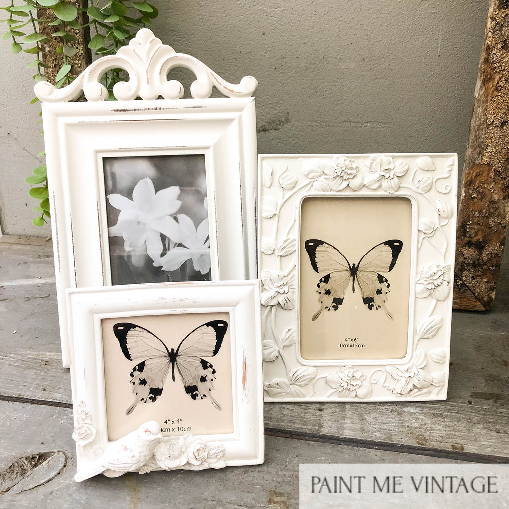 Doves Square Antique White Picture Frame