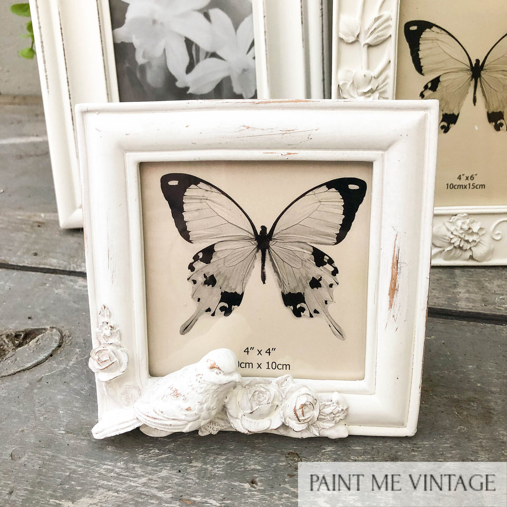 Picture Frame Antique White Doves square