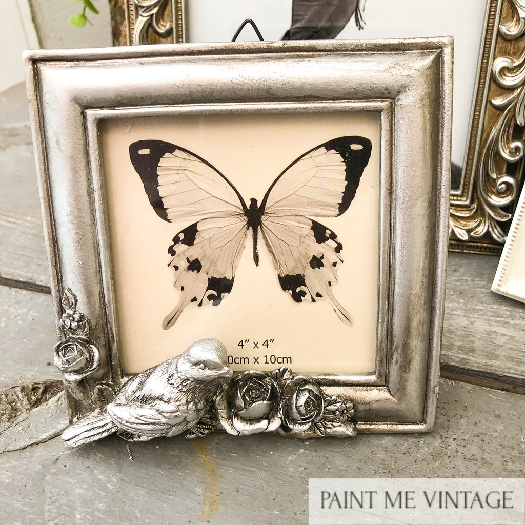 Picture Frame Antique Champagne Doves square