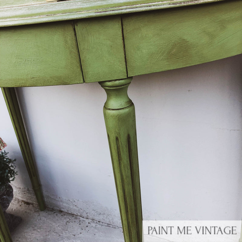 Sage & Gold Metallic Wash Console - no longer available