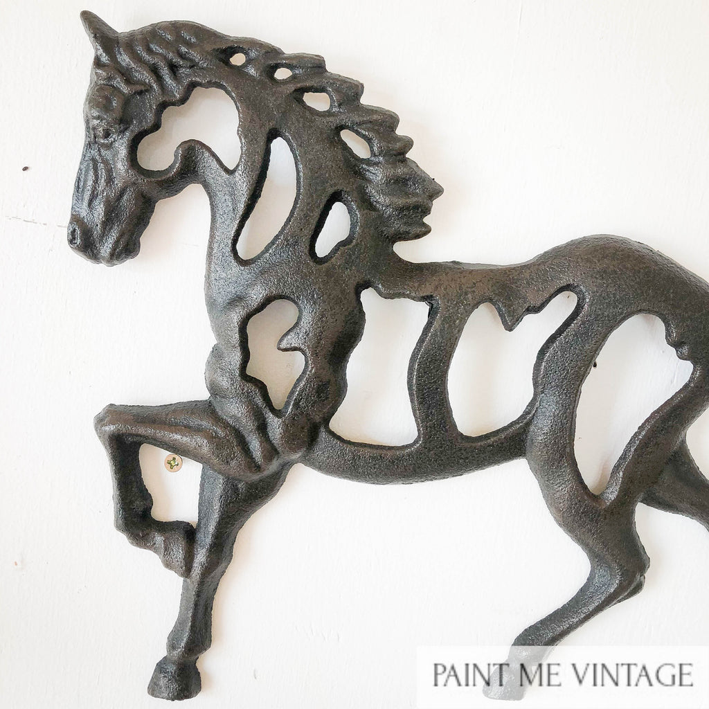 Horse Stallion Wall Decor Cast Iron