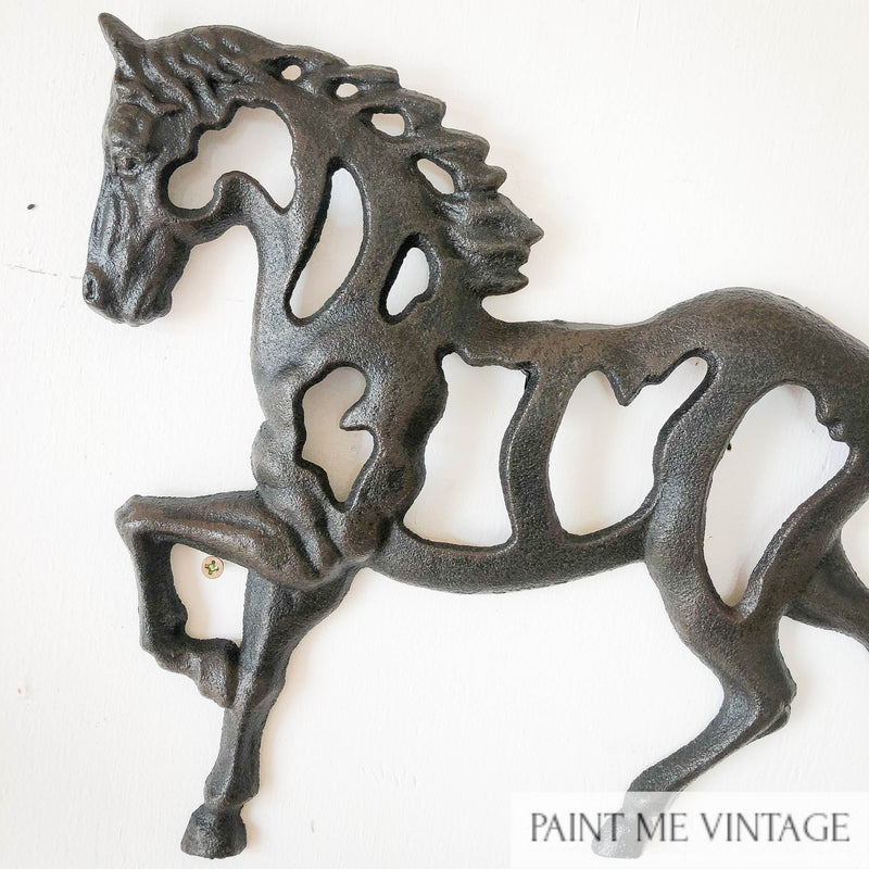 Horse Stallion Wall Decor Cast Iron NZ