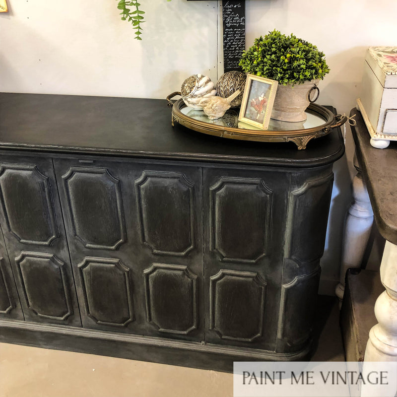 Midnight Elegant Panelled Sideboard  - not available
