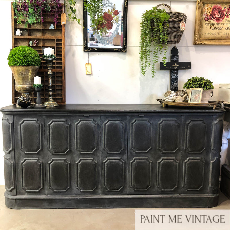 Midnight Elegant Panelled Sideboard NZ