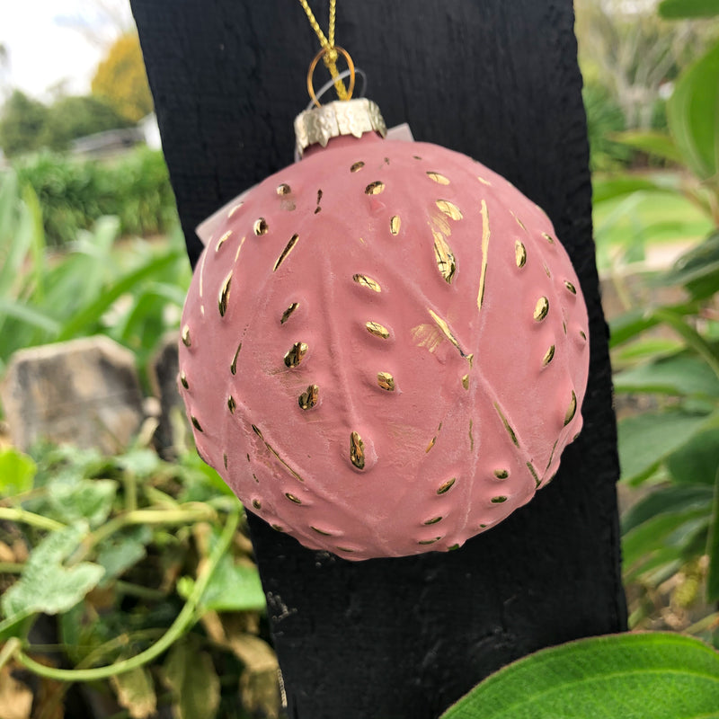 Bauble Rose Matte Embossed